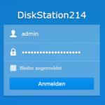 Über den Browser melden wir uns an der DiskStation an