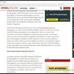 Beispiel Spiegel Online mit Werbung
