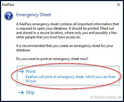 """Druckt euch das """"Emergency Sheet"""" am besten aus und legt es an einem sicheren Ort ab!"""