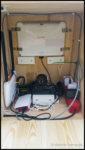 Das Innenleben der Fotobox, Raspberry Pi, Spiegelreflexkamera, WLAN-Router und Tablet