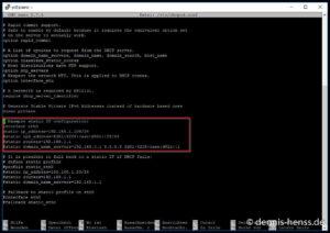 Hier konfigurieren wir die statische IP-Adresse unseres Raspi